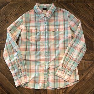 Patagonia plaid long sleeve button down shirt Sz 4